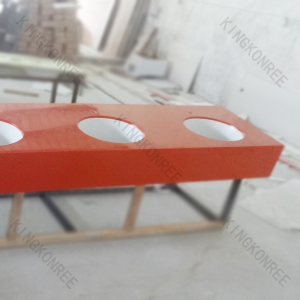 artificial stone vanity top red solid surface countertops
