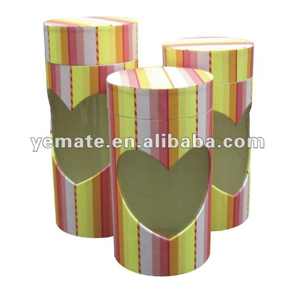 Paper red yellow round cardboard gift boxes with lid,wine glass cardboard gift boxes,cardboard gift boxes with window