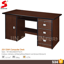 Customized high quality low cost office table melamine computer table design with 3 drawers
