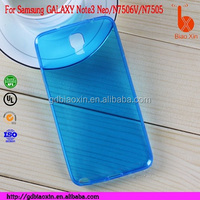 hot selling Clear soft TPU case for samsung n7506, for samsung Galaxy Note 3 Neo Duos TPU case