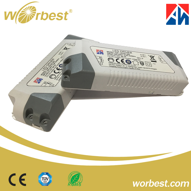 Worbest CE TUV ERP ROHS Indoor Constant Current/ Constant Voltage 12v 2A 6w 12w 24w led lights driver
