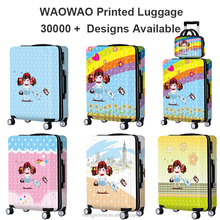 Colorful wheeled cabin luggage carry on travel suitcase for kids