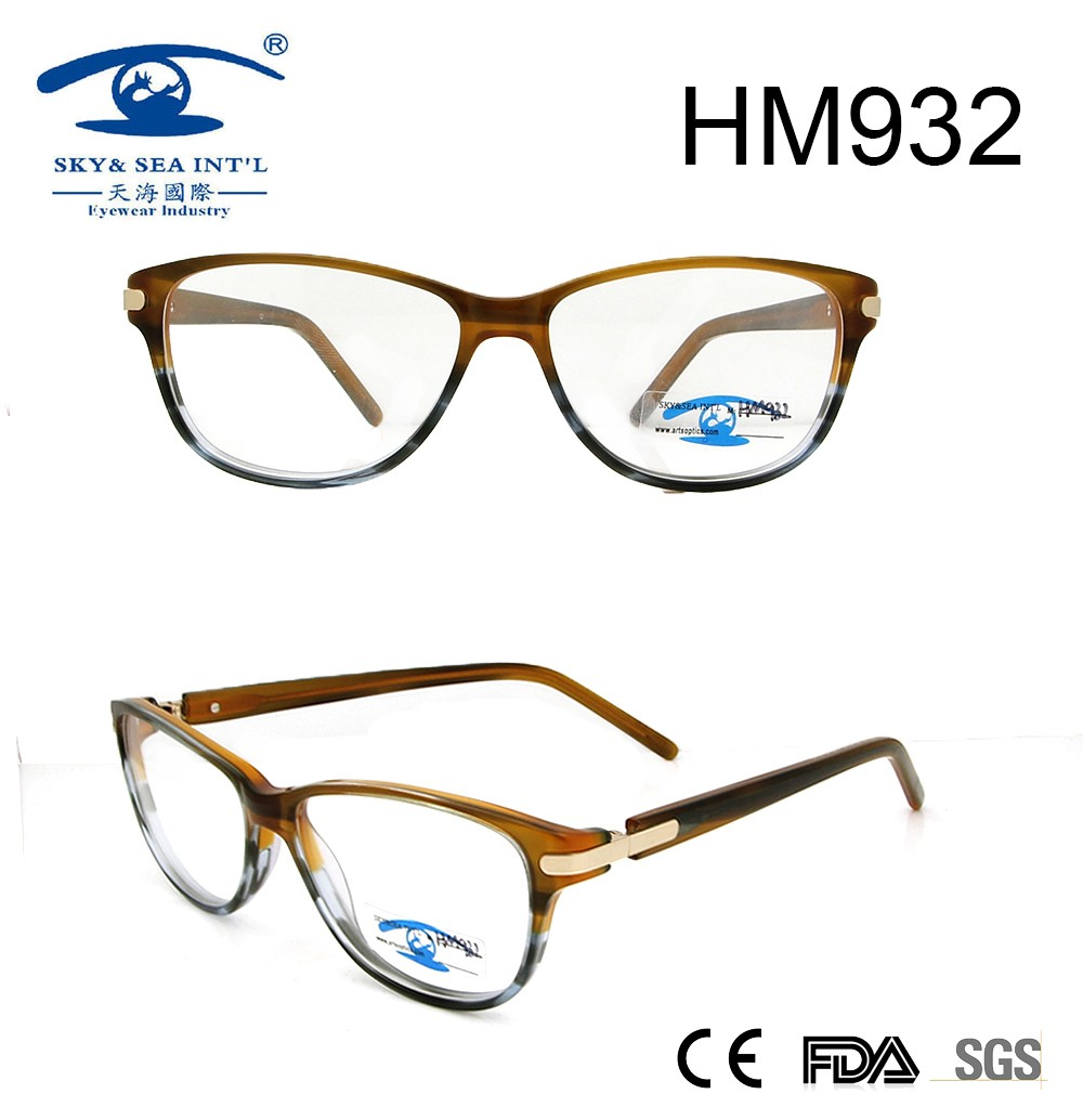 2017 new style fashion acetate optical frame for wholesale