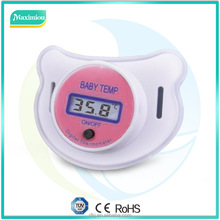 Digital safty mouth nipple baby thermometer with LCD display