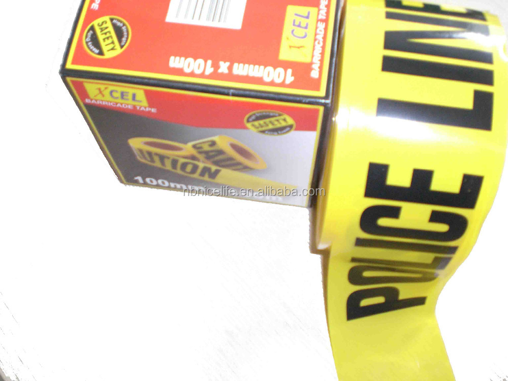 best price yellow warning tape for police using
