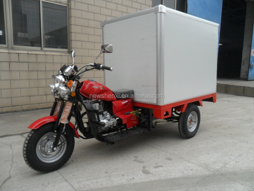 Cheap Cloesd Box 3 Wheel Cargo Tricycle Motorized 200cc Trike For Sale