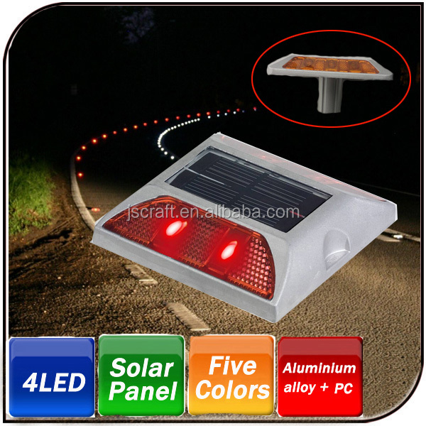 IP68 high brightness reflector aluminum led Solar Road Stud