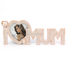 high-grade words shape beautiful metal photo frame mother's day and father's days gifts