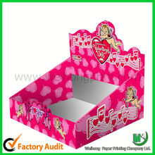 colorful cardboard counter top display boxes manufacturer