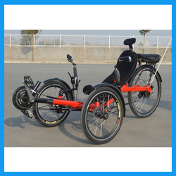 disc brakes Electric Recumbent Tricycle for adults