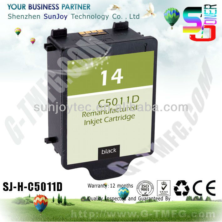 Remanufactued INK cartridge for hp 14 C5011D