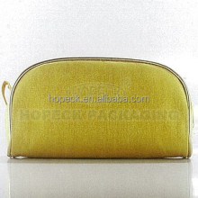 hot sale rectagular shape yellow bag for cosmetic use