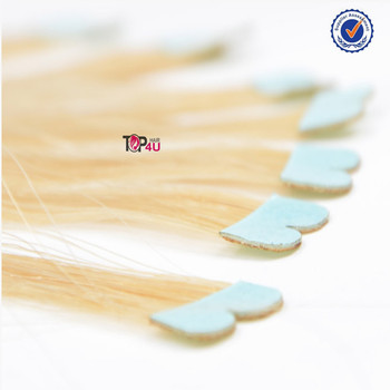 Brazilian wholesale virgin remy micro heart mini seamless tape hair extension