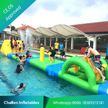 Giant inflatable combos water park amusement inflatable water skis with climbing wall
