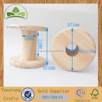 high quality unfinish natural Wood Wooden bobbin
