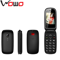 Care Flip Feature Phone With Quad Band Dual SIM Mobile Phone 2.4 Inch Gsm Keypad Flip Senior Phone
