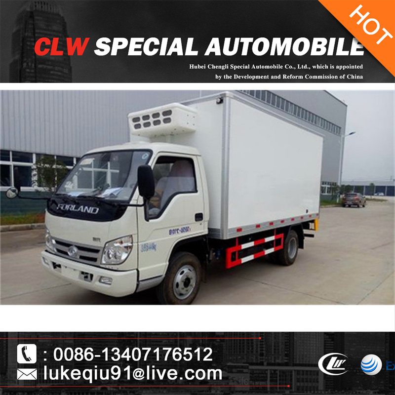4*2 dongfeng small seafood refrigerated truck for sale