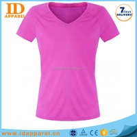nice v-neck t shirt wholesale china teen girl woman lady