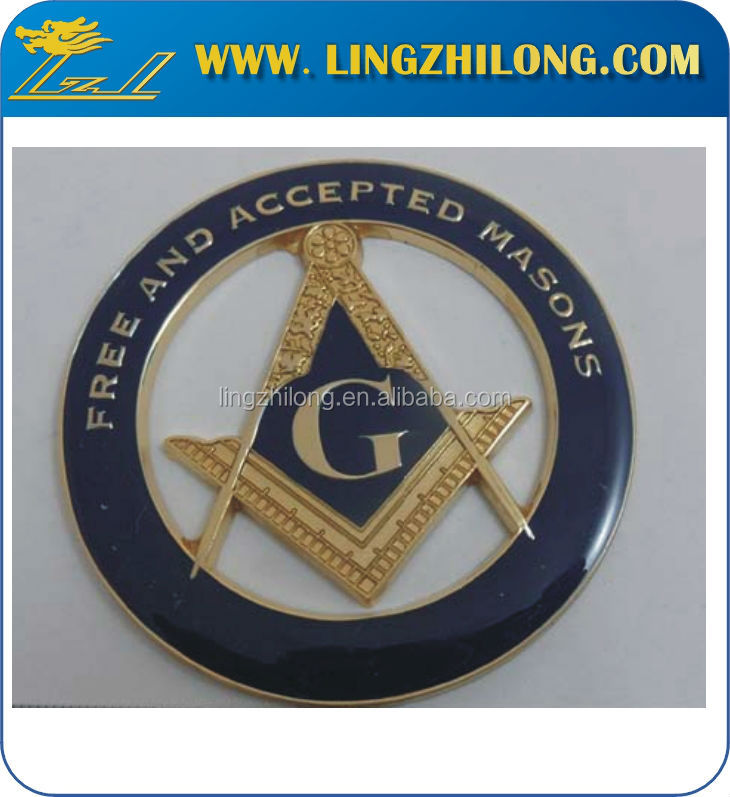 Free And Accepted Masons Cut Out Masonic Auto Badge Car Emblem