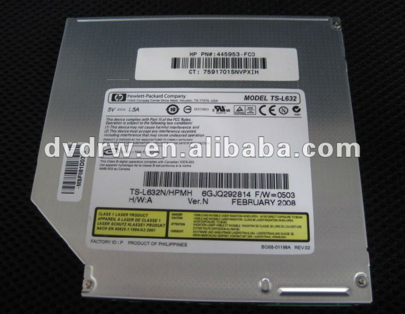 IDE Laptop DVD-RW Driver TS-L632N with PN 445953-FC0 Lightscribe Low Price