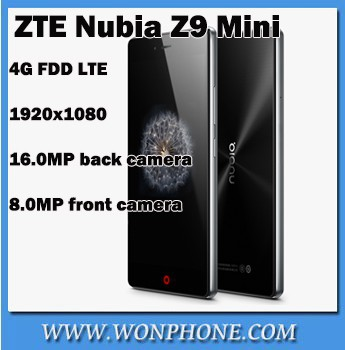 "Original ZTE Nubia Z9 Mini 4G FDD LTE Cell Phones Snapdragon 615 Octa Core 5"" 1920x1080 2GB RAM 16GB Android 5.0 16.0MP Camera"