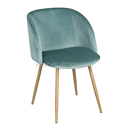 Modern Velvet Accent Living Room Chair,Upholstered Armchair Club Chair with Strong Steel Legs Dining Room Bedroom Furniture-Gree