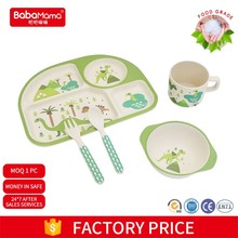 FDA China Wholesale manufactorer cheap Bamboo baby tableware