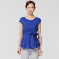 Hot selling women lady girl trendy fashion casual blouse