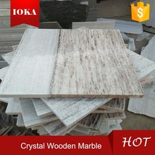 Crystal White Marble Stone Companies Straight Wood Grain