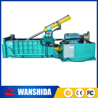 Manual hydraulic vertical press baler stainless steel scrap