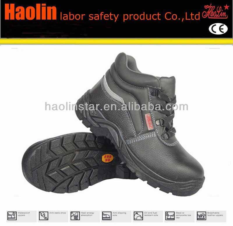 HL-S045 Hard work environment white reflective strip construction shoes