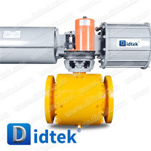 Didtek Three Piece Body Flange Type Stainless Steel Trunnion Ball Valve With Pneumatic Actuator