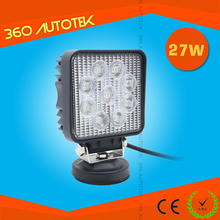 2015 New Design Hot Sale Auto 27W portable led battery work light with magnetic base