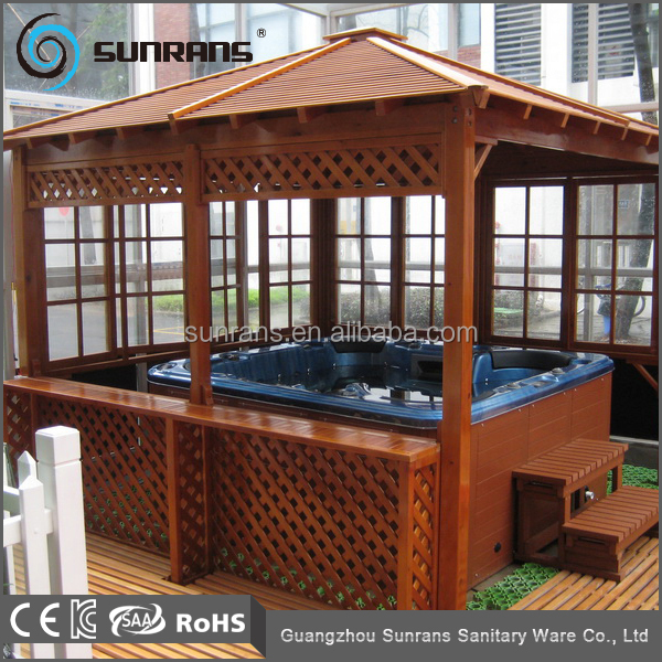 Guangzhou Factory cheap outdoor used wooden spa gazebo manufactures