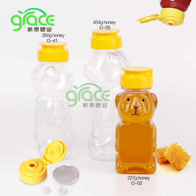 supplier empty plastic honey packing teddy bear shape bottle