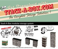 Storage box easy access storage for home, office, garage and shed - Stack-A-Box