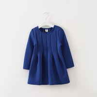 Hot selling modern long sleeve winter girls dress