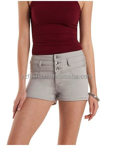 Sexy jeans fitted mini oxford hot short pants for women