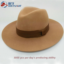 hotsale women and men wide brim wool felt homburg hat