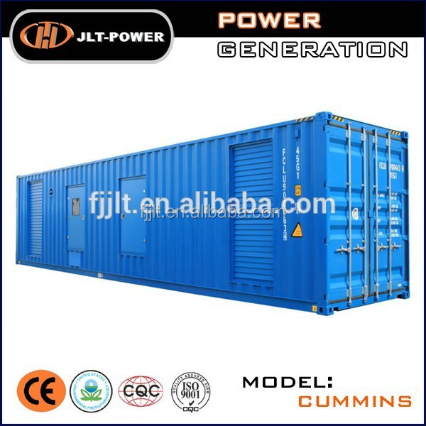 Three phase Soundproof container 1000 kva generator price with branded engine