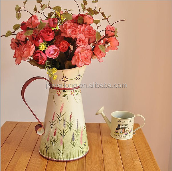 Galvanized Metal Garden Decoration Water Flower Jug/pot