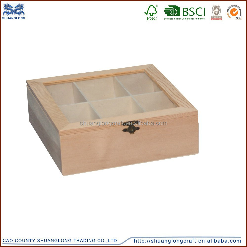 High quality art minds wooden crafts compartment box for Art minds wood crafts