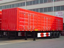 New Low Price tri-axle dry van box transport semi trailer for Sale