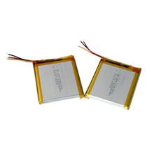 DEL-705462 ultra thin lithium polymer battery 3.7V 2600mAh rechargeable lipo battery