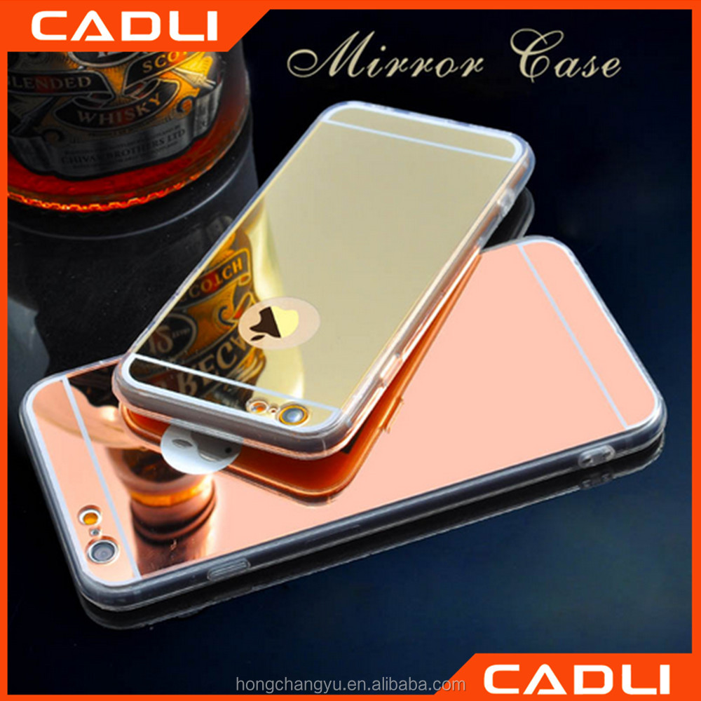 Luxury Acrylic Mirror TPU Clear Soft Phone Case Cover for iPhone 7 plus 4 4S 5 5S 6S 6
