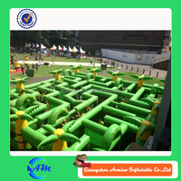 Giant Inflatable Interactive Games / Amusement Park Inflatable Maze for sale
