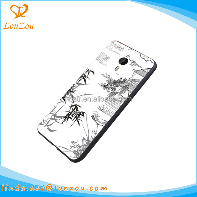 Waterproof case phone accesories chinese landscape painting design custom 2017 case phone cover