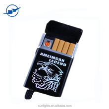 Wholesale USB charging lighter BX-01 with cigarette box usb lighter customized logo print