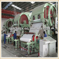 2013 hot sales 2400mm high speed toilet tissue paper machine,facial paper machine,10TPD,waste paper