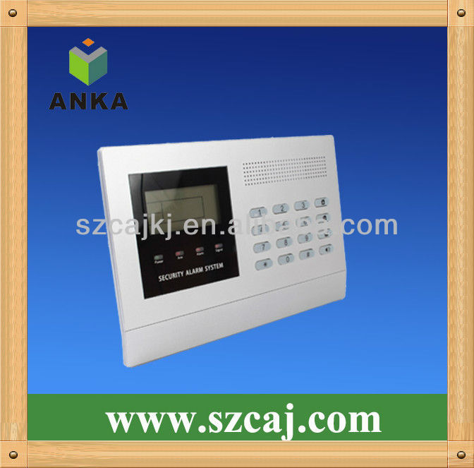 LCD display wireless electronic security system project